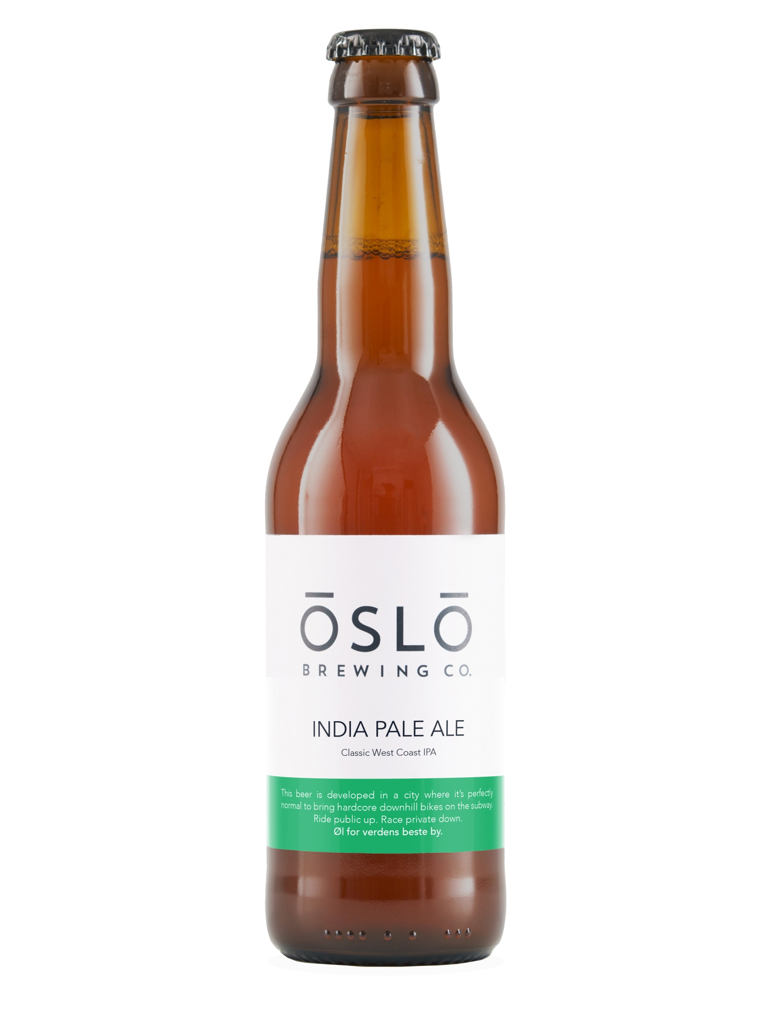 Oslo Brewing Company India Pale Ale Beer Bottle